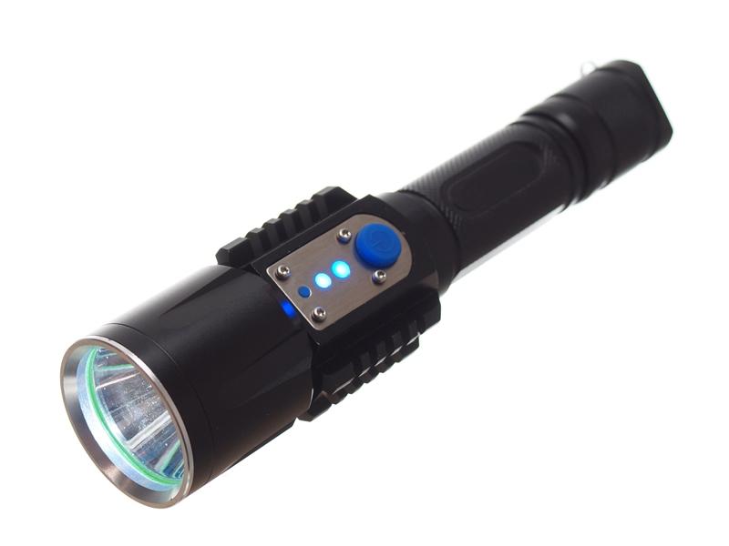 dc9d12a49fc Genopladelig LED Lygte Cree XM-L2 T6, micro USB - 1000lm - Matronics