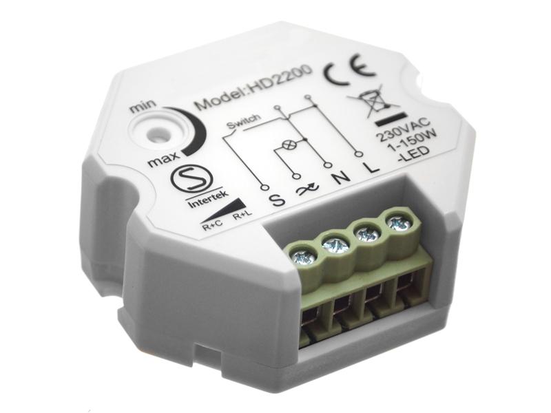 Alle nye 230V LED Lysdæmper til lampeudtag - Trykstyret - Matronics SP82